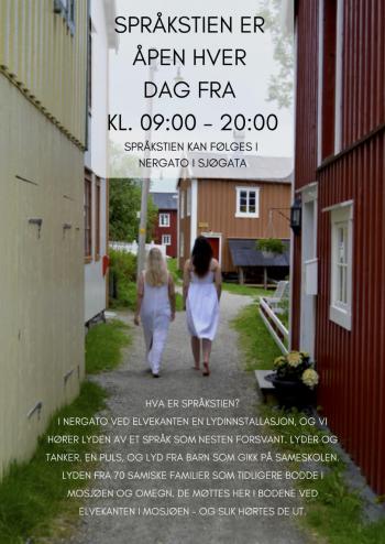 Plakat språkstien